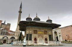 Fontanna sułtan Ahmed III, Istanbuł -, Turcja Obraz Royalty Free
