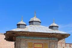 Fontanna sułtan Ahmed III, Istanbuł, Turcja Obraz Royalty Free