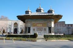 Fontanna sułtan Ahmed III w Istanbuł Zdjęcie Royalty Free