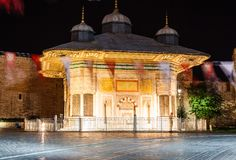 Fontanna sułtan Ahmed III Zdjęcie Stock
