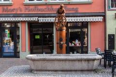 Fontanna Villingen-Schwenningen Niemcy obraz stock