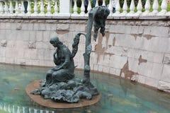 Fontanna w Aleksander ogródzie Alyonushka rzeźba Obrazy Royalty Free