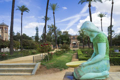 Fontanna w Ameryka kwadracie w Seville Obraz Royalty Free