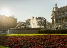 Fontanna w Barcelona Zdjęcia Stock