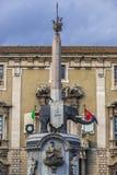 Fontanna w Catania Obraz Royalty Free