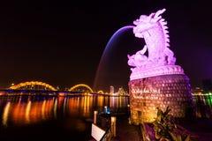 Fontanna w da nang, Wietnam Obrazy Royalty Free