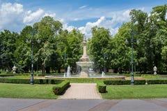 Fontanna w Eger, Węgry Zdjęcie Stock