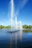 Fontanna w Gorky parku, Moskwa, Rosja Obrazy Royalty Free
