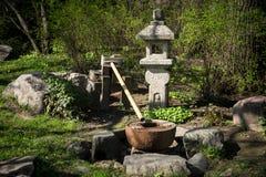 Fontanna w Japońskim ogródzie Obraz Royalty Free