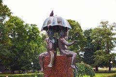 Fontanna w Kanuti parku, Tallinn Obrazy Stock