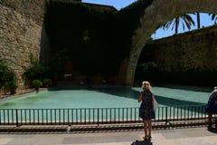 Fontanna w Katedralnym świętym Maria Palma de Mallorca Obraz Royalty Free