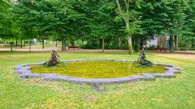 Fontanna w Krystalicznego pałac ogródach Porto, Portugalia Obrazy Stock