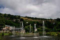 Fontanna w losu angeles Roche en Ardenne Zdjęcie Royalty Free