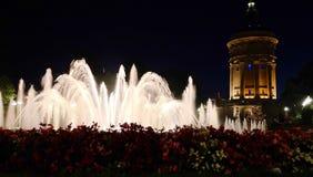 Fontanna w Mannheim, Niemcy - Zdjęcie Royalty Free