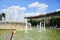 Fontanna w Mediolan, Włochy zdjęcie stock