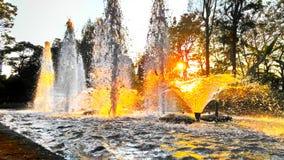Fontanna w ogródzie zdjęcia royalty free