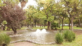 Fontanna w parku Fotografia Royalty Free