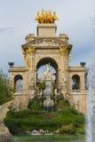 Fontanna w parku cytadela Zdjęcie Royalty Free
