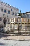 Fontanna w Perugia Obraz Stock