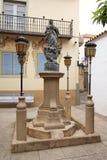 Fontanna w Poble Espanyol, Barcelona Zdjęcia Stock