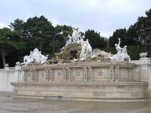 Fontanna w Schonbrunn, Wiedeń, Austria Fotografia Royalty Free