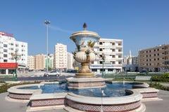 Fontanna w Sharjah mieście Zdjęcie Stock
