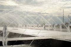 Fontanna w 300th rocznica parku w StPetersburg Zdjęcia Royalty Free