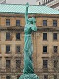 Fontanna Wiecznie życie W centrum Cleveland Ohio zdjęcie royalty free