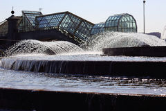 Fontanna wodny strumień Obraz Royalty Free