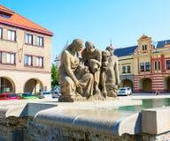 Fontanna z kobietami, Melnik miasto Zdjęcia Stock