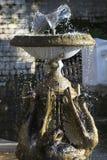 Fontanna z rzeźbami gąski Fotografia Royalty Free