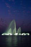 fontanna zachód jeziorny muzykalny Obrazy Royalty Free