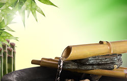 fontanny bambusowy zen Obraz Royalty Free