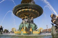 Fontanny des fleuves, Concorde kwadrat, Paryż obrazy royalty free