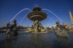 fontanny France Paris morza Zdjęcie Stock