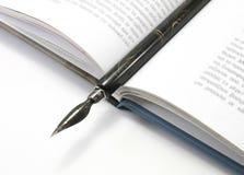 fontanny książki otwarte długopis Zdjęcie Stock