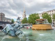 fontanny London kwadratowy trafalgar zdjęcie stock
