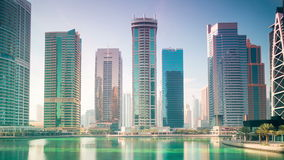 Fontanny miejsca 4k czasu upływ od Dubai miasta zdjęcie wideo