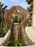 Fontanny mozaika. Barcelona punkt zwrotny, Hiszpania. Fotografia Royalty Free