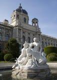 fontanny muzeum Vienna Zdjęcia Royalty Free