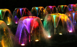 fontanny noc Obrazy Royalty Free