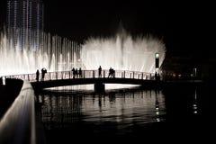 fontanny noc Zdjęcie Royalty Free