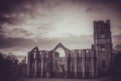 Fontanny opactwa ruiny, Ripon UK Obrazy Stock