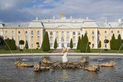 fontanny pałac peterhof Obrazy Stock