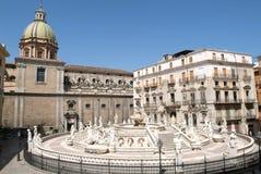 fontanny Palermo kwadrat Zdjęcie Royalty Free