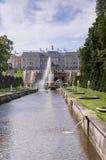 Fontanny Peterhof blisko St Petersburg, Rosja Obraz Stock