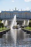 Fontanny Peterhof pałac Zdjęcie Royalty Free
