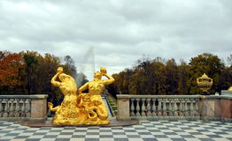 Fontanny Peterhof, Rosja Fotografia Stock