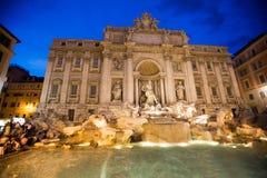 fontanny trevi Rzymu Włochy Fotografia Stock