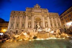 fontanny trevi Rzymu Włochy Zdjęcie Stock